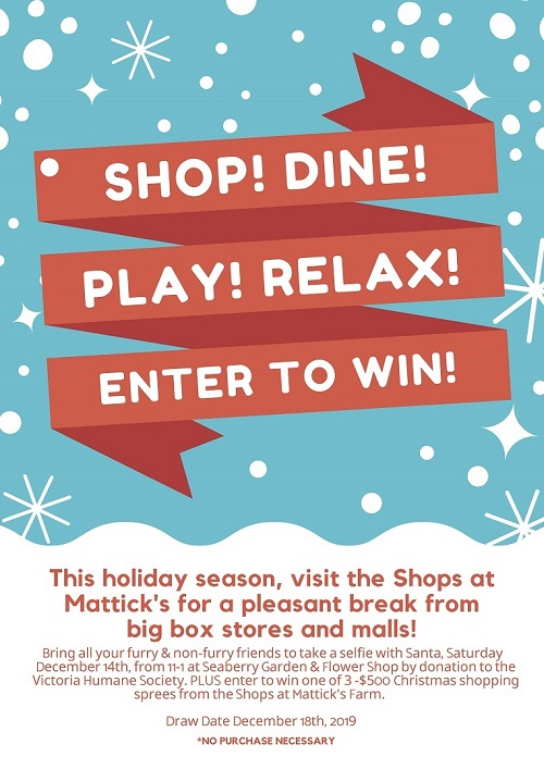 Holiday Happenings 2019 - SHOP! DINE! PLAY! RELAX!  ENTER TO WIN